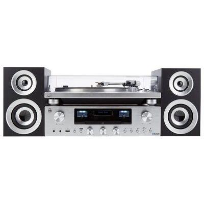 Gpo PR100 Turntable with PR200 CD, Amplifier & Speaker System Bundle