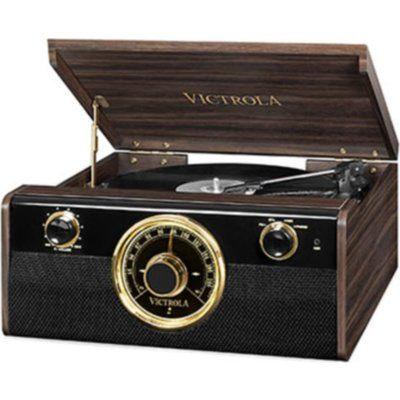 Victrola VICTORIA Empire Junior VTA-240-MAHEU 4-in-1 Belt Drive Bluetooth Music Centre - Mahogany