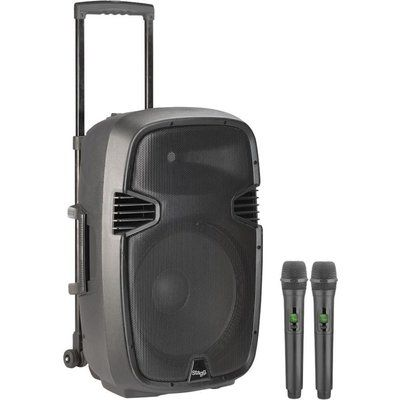 Stagg Re-volt15U Portable Speaker with Wireless Microphones