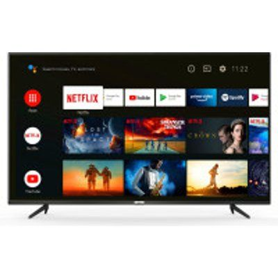 """TCL 43P615K 43"""" Slim 4K HDR LED Smart Android TV with Freeview Play"""