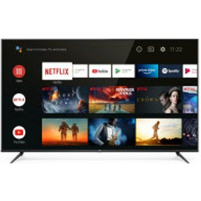 """TCL 75P615K 75"""" Slim 4K HDR LED Smart Android TV with Freeview Play"""