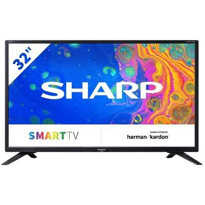 """Sharp 32"""" Smart HD Ready LED Freeview TV"""