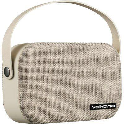 Volkano Fabric Series VK-3020-GRL Portable Bluetooth Speaker - Beige, Beige