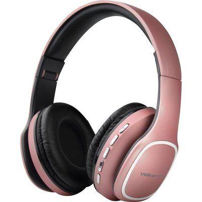 Volkano Phonic VK-2002-GD Wireless Bluetooth Headphones - Rose Gold