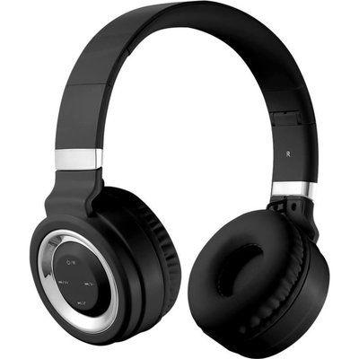 Volkano Lunar Series VK-2004-BKSL Wireless Bluetooth Headphones - Black & Silver