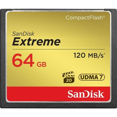 Sandisk Extreme 120 Compact Flash Memory Card - 64 GB