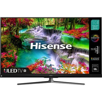 "Hisense 55"" 55U8QFTUK Smart 4K Ultra HD HDR QLED TV with Amazon Alexa"