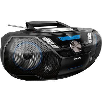 Philips AZB798T/12 DAB/FM Boombox - Silver & Black