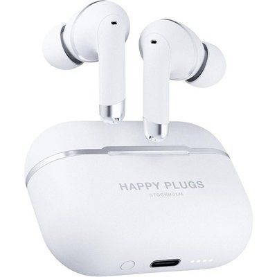 Happy Plugs Air 1 Wireless Bluetooth Noise-Cancelling Earphones - White