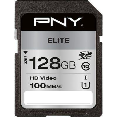 Pny Elite Class 10 SDXC Memory Card - 128 GB
