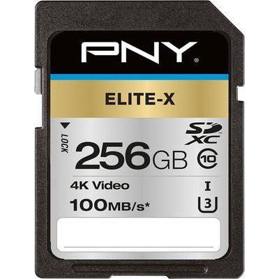Pny Elite-X Class 10 SDXC Memory Card - 256 GB