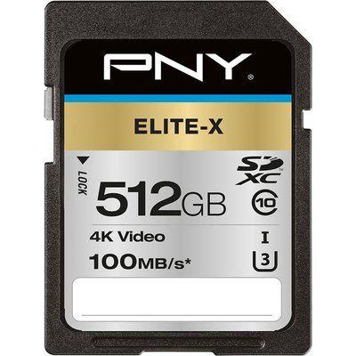 Pny Elite-X Class 10 SDXC Memory Card - 512 GB
