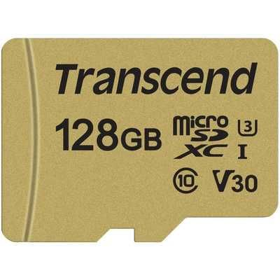 Transcend 128GB UHS-I U3 MLC High Endurance MicroSD Card with Adapter