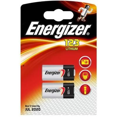 Energizer Lithium CR123 Batteries - Pack of 2