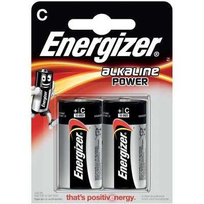 Energizer LR14 Max Power Alkaline C Batteries - Pack of 2