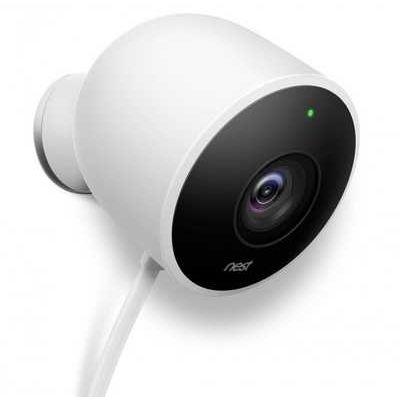 Google Nest Cam Night Vision Weatherproof Outdoor Security Camera - White