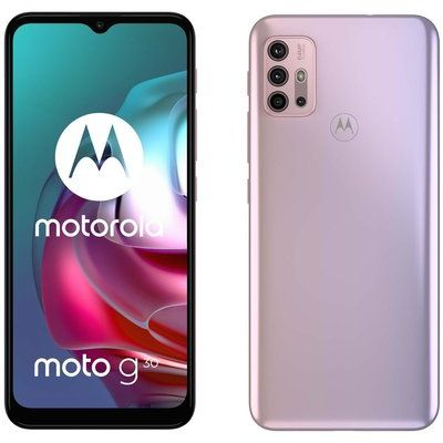 Motorola G30 128GB Mobile Phone in Pastel Sky