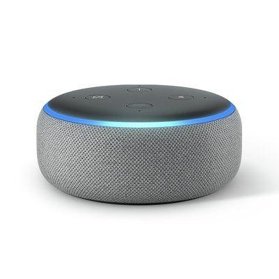 Amazon Echo Dot Smart Speaker with Alexa - Heather Grey
