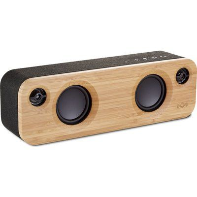 House of Marley Get Together Mini Bluetooth Wireless Portable Speaker - Wood & Black