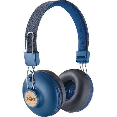 House of Marley Positive Vibration 2.0 Wireless Bluetooth Headphones - Blue
