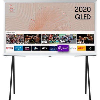 "Samsung 55"" The Serif QE55LS01TAUXXU Smart 4K Ultra HD HDR QLED TV with Bixby, Alexa & Google Assistant - Cloud White"